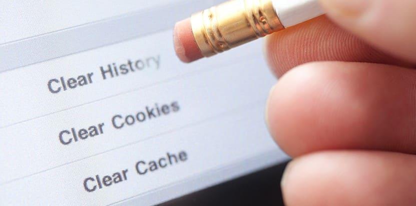 cara hapus cache dan cookies