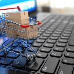 gambar keranjang belanja dan laptop