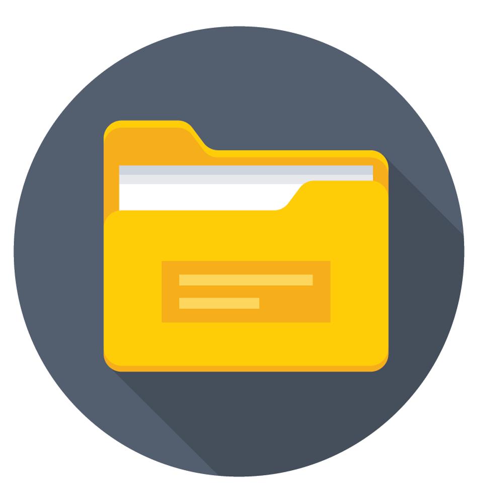 vector icon folder