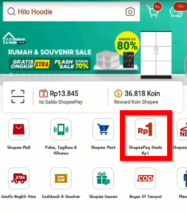 Promo 11 11 Shopeepay Deals Rp 1