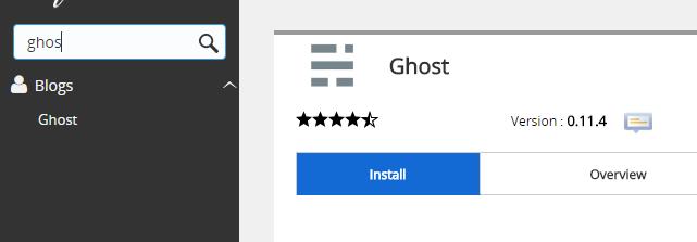 install nodejs ghost di shared hosting jetorbit