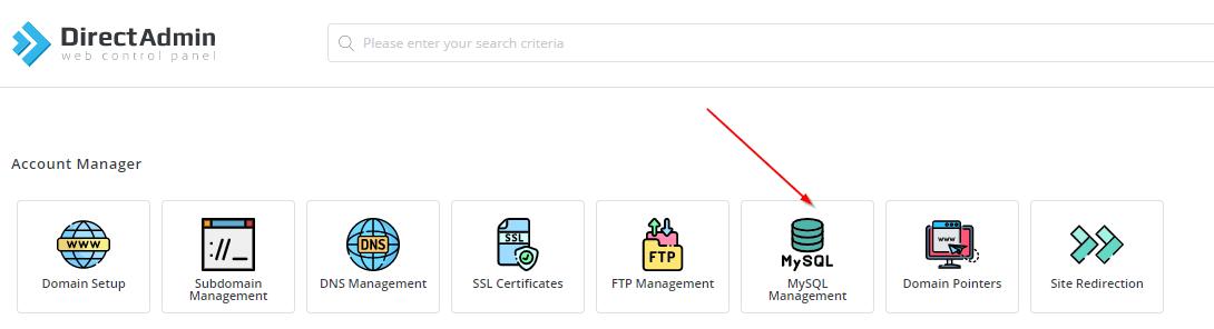 cara akses phpmyadmin di directadmin