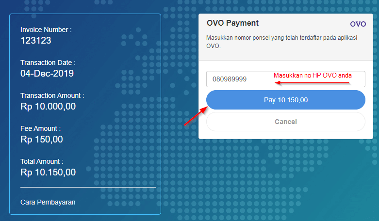 bayar hosting dengan ovo