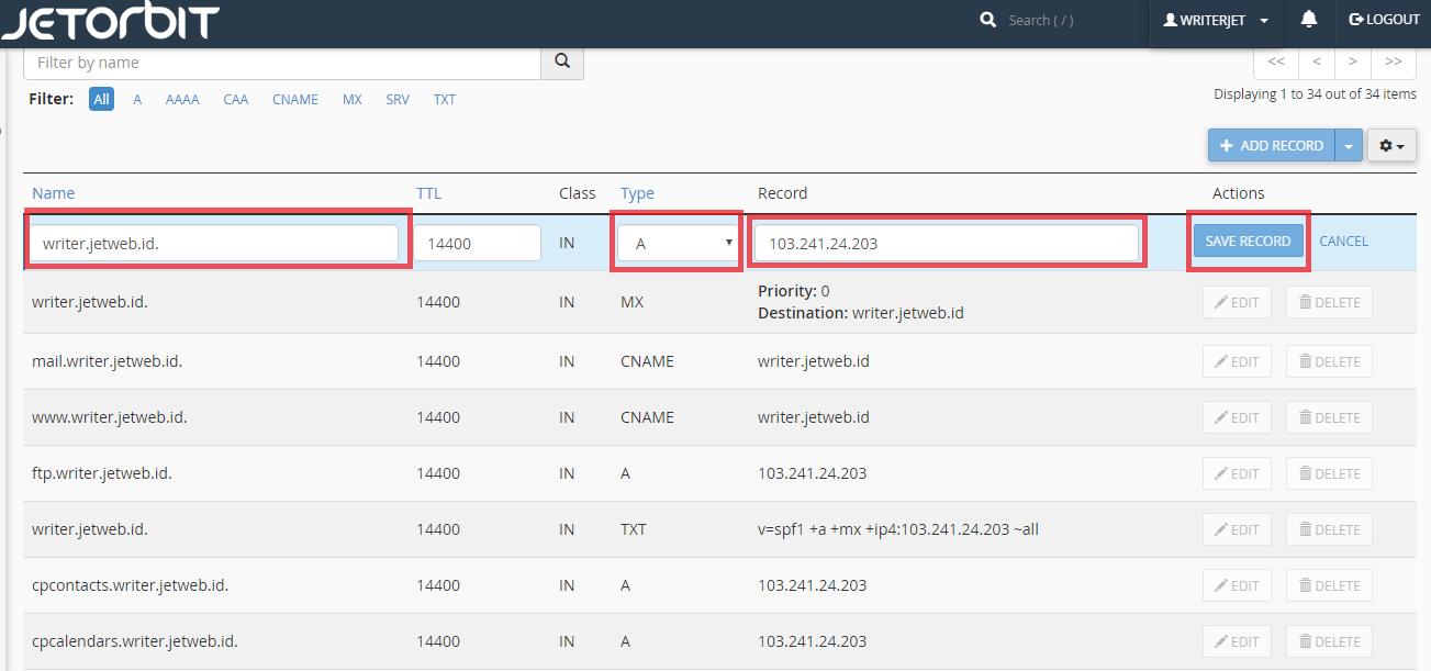 Cara Setting Menambahkan dan Mengubah DNS Record Di Cpanel