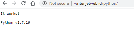 Cara Setup aplikasi Python pada Cpanel