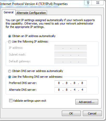 Mengatasi DNS_PROBE_FINISHED_NXDOMAIN (This webpage is not available)