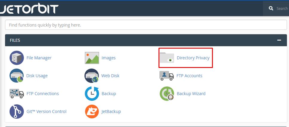 Melindungi direktori Dengan Directory Privacy Di cpanel