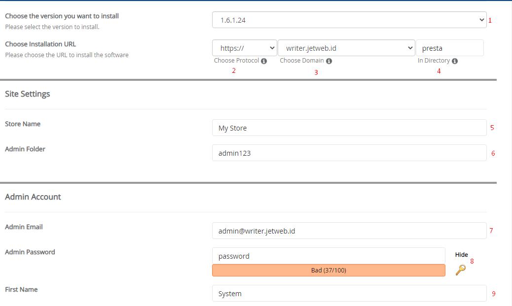 Cara Install PrestaShop di Cpanel dengan Softaculous