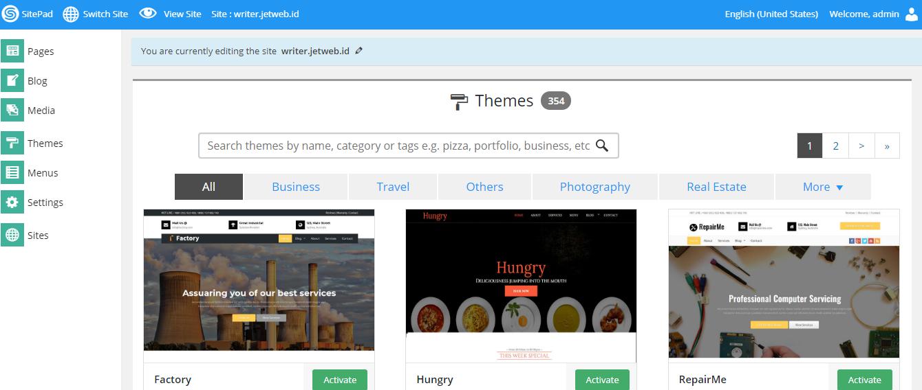 Cara Membuat Website Dengan Sitepad Website Builder