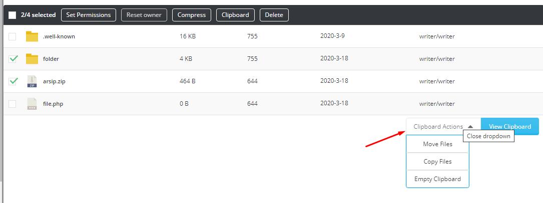 Panduan Cara Copy Paste Move File folder di Directadmin