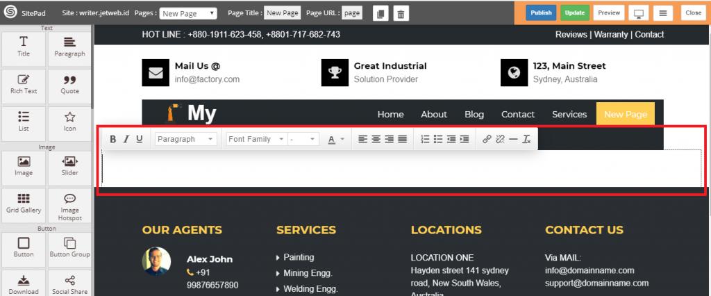 Menambah Page atau Halaman di Sitepad Website Builder