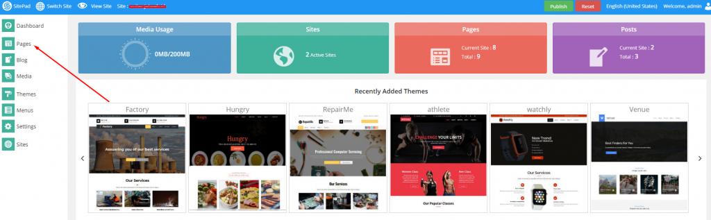 Cara Clone Page di Sitepad Website Builder