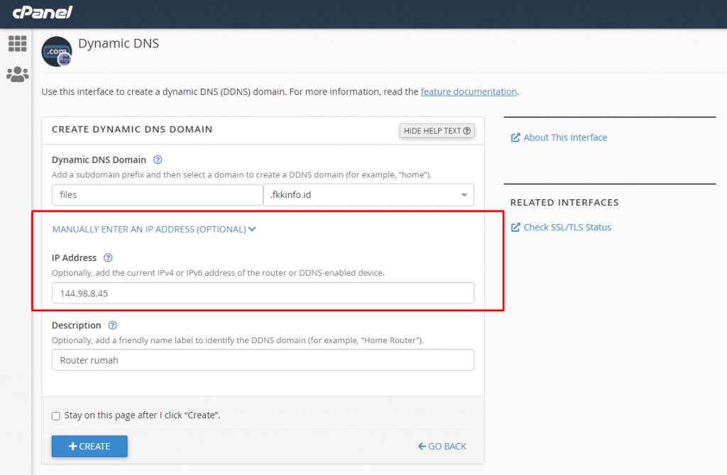 Pengertian Dynamic DNS dan Cara Menggunakan nya di Cpanel