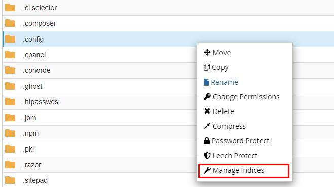 Cara mengaktifkan dan Menonaktifkan Index Folder Melalui Cpanel