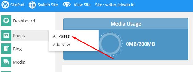 Menambah Custom HTML di Sitepad Website Builder