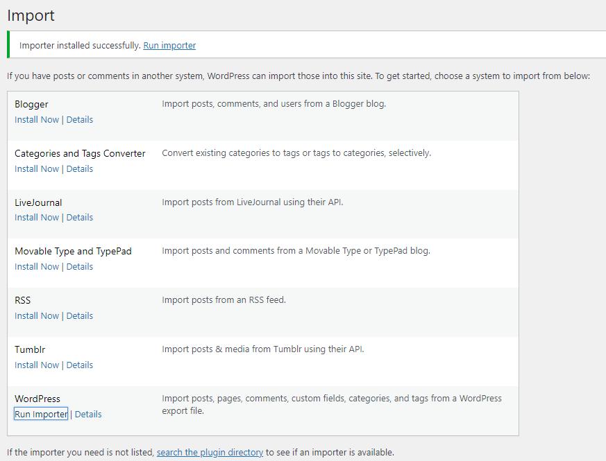 Cara Import Export Menu di WordPress