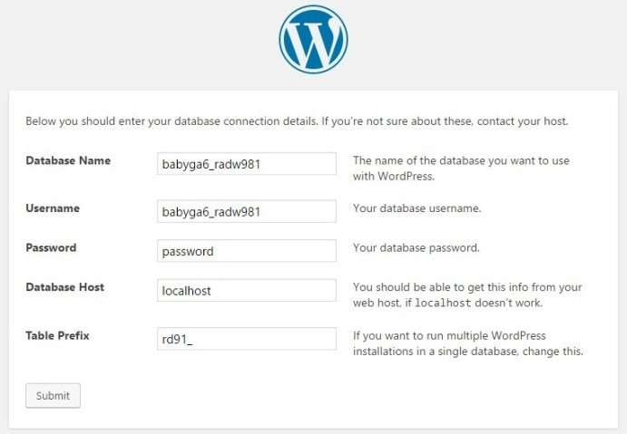 atur wordpress Anda