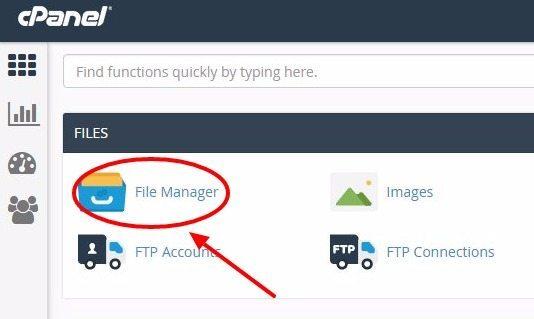 buka aplikasi file manager