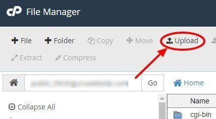 upload file WordPress
